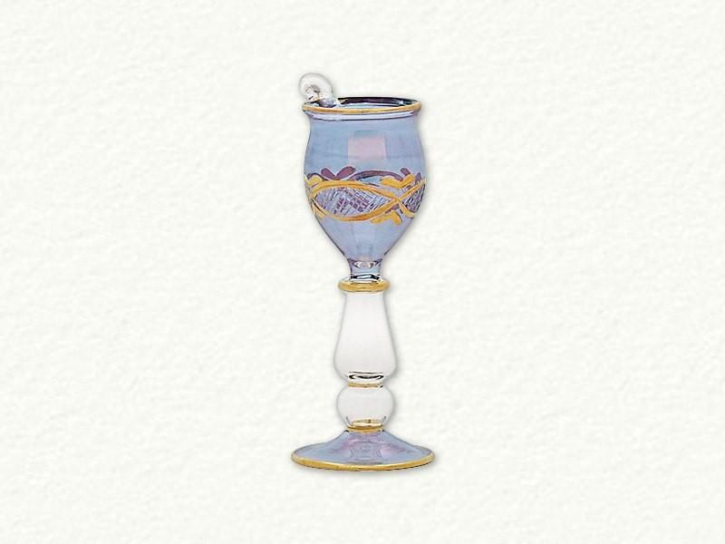 Small Ornament Wine Glass - Blue