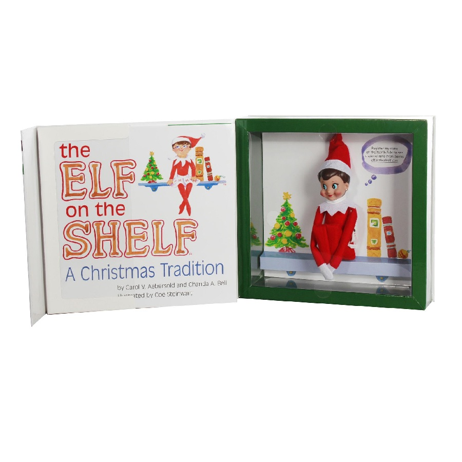 """The Elf on the Shelf - A Christmas Tradition - """"Boy"""" Scout Elf Set"""