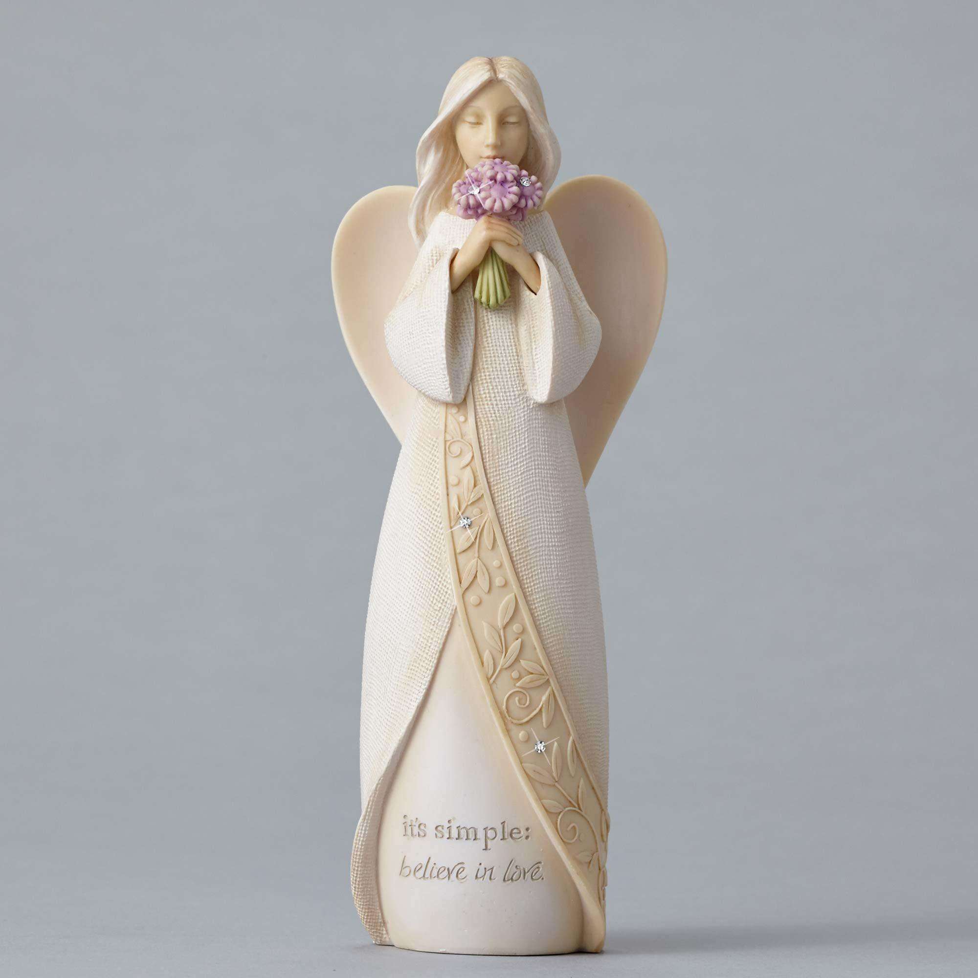 Angel With Purple Flowers
