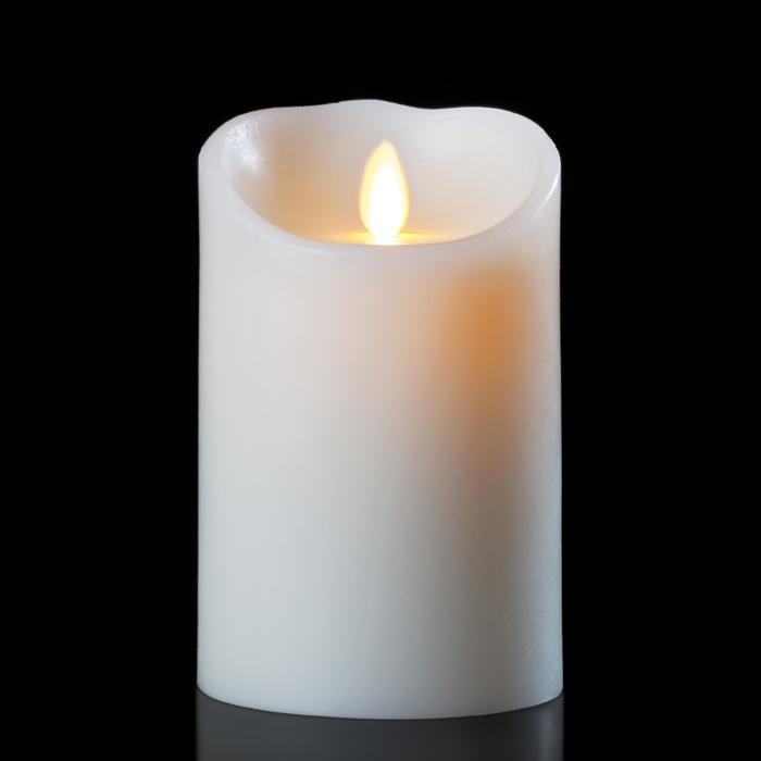 "9"" Ivory Luminara - Fireless Candle with Vanilla Scent"
