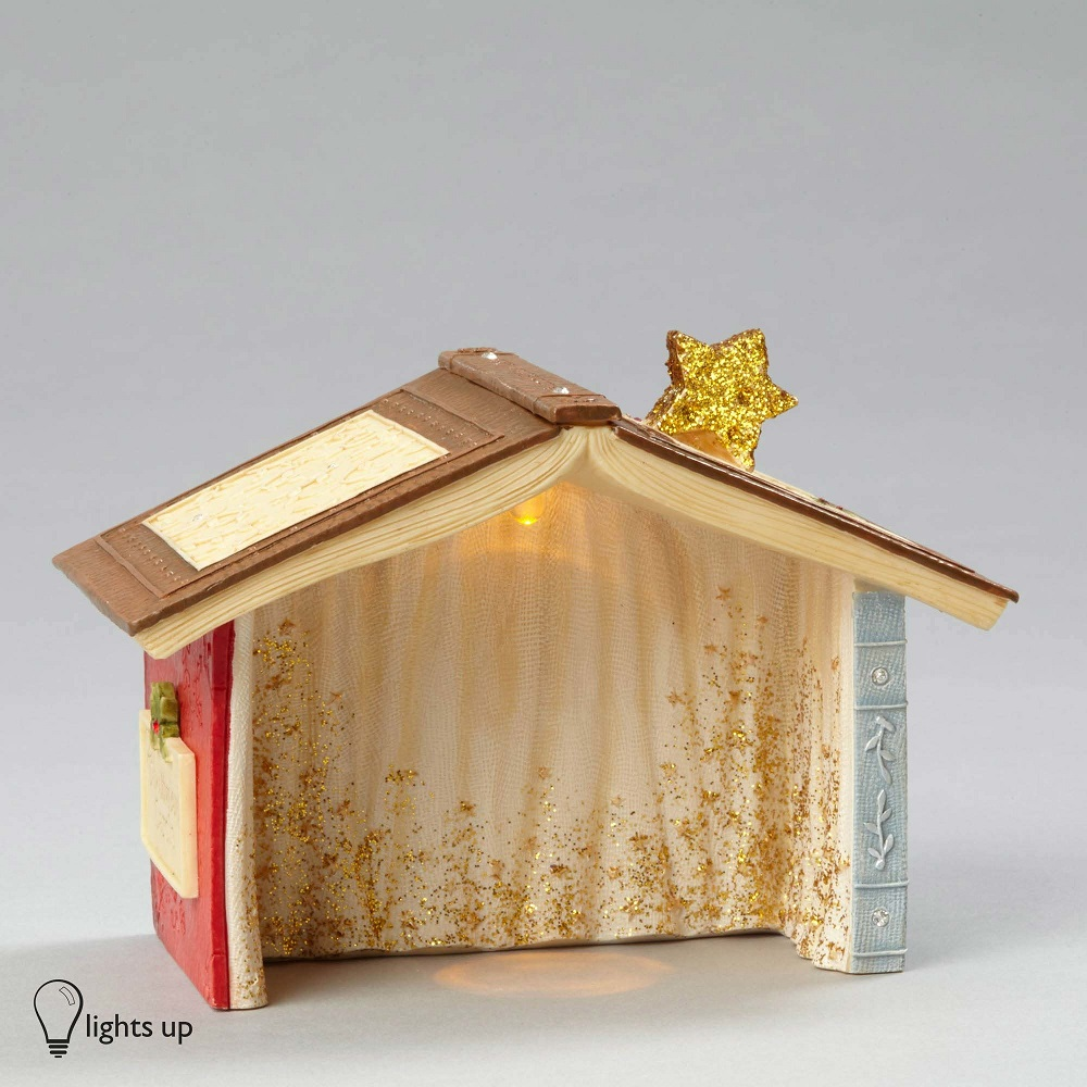 Lighted Nativity Creche Mice