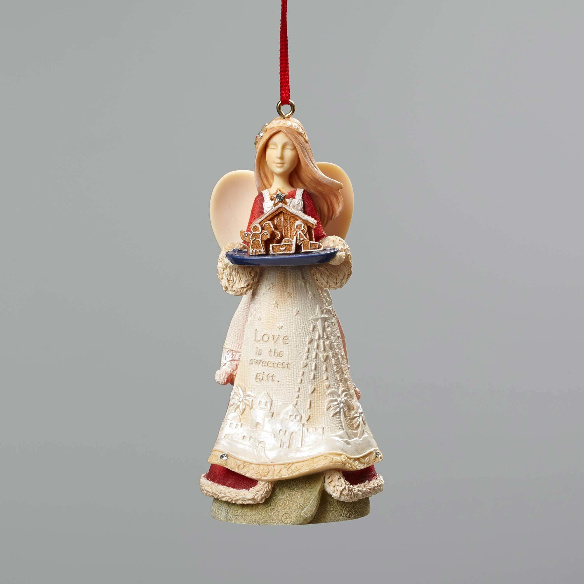 Love Is The Sweetest Gift - Angel With Nativity Ornament