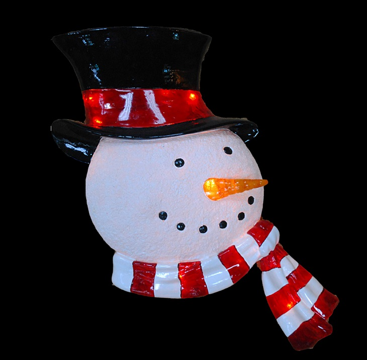 Barcana 571136bo Illuminated 23 Quot Led 2d Snowman Head