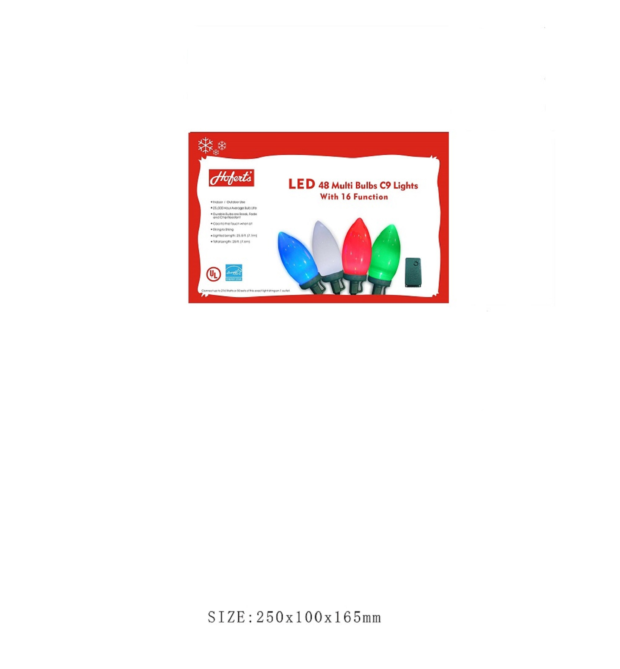 C9 Multi Colored - 48 Lights - Multi Function - LED