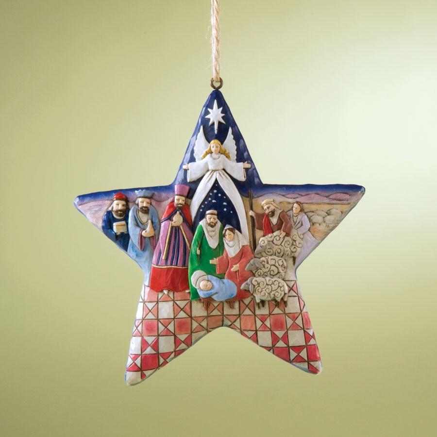 Nativity Star Hanging Orn