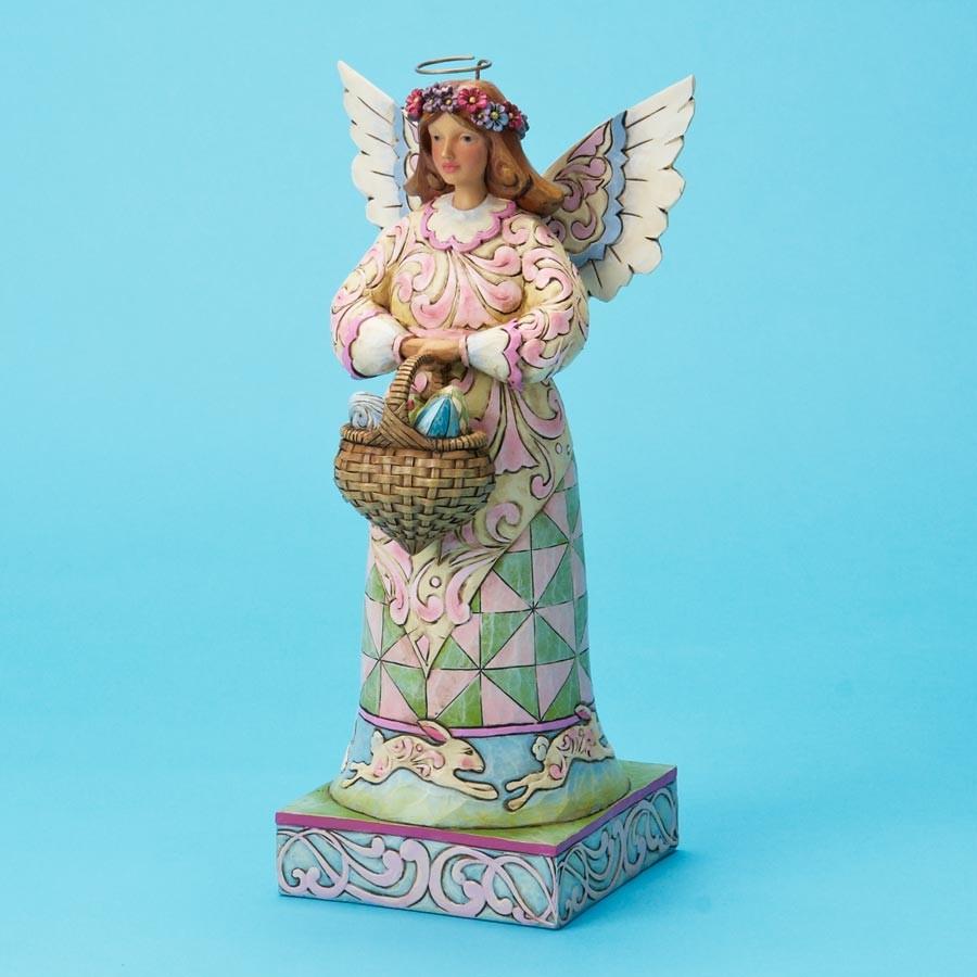In the Joyful Spirit of Easter   Easter Angel With Basket & Eggs
