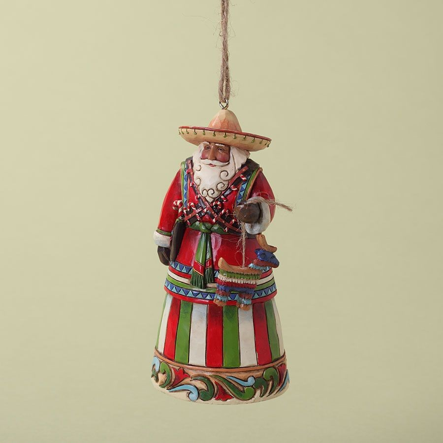JIM SHORE HEARTWOOD CREEK 4027742 Mexican Santa Hanging