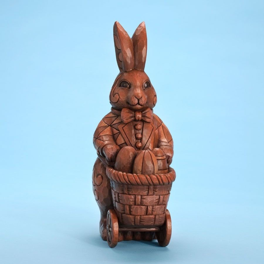 First Taste of Spring - Chocolate Bunny with Cart