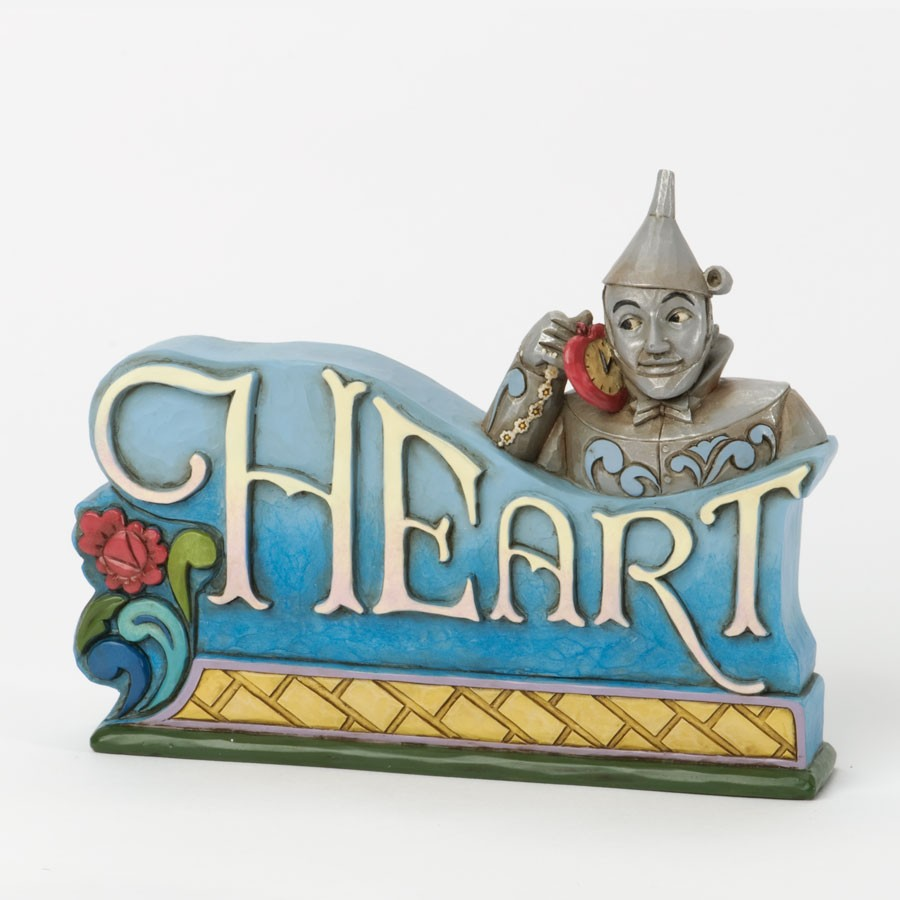 ''Heart'' - Tin Man Inspirational Plaque