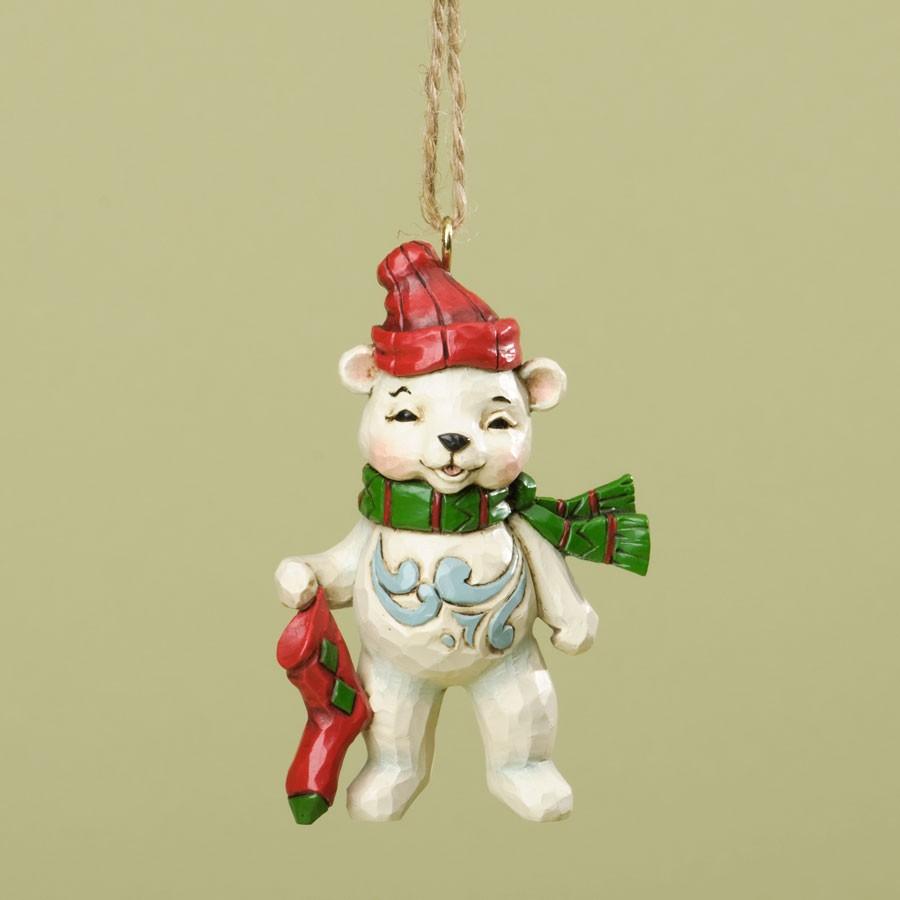 Christmas Polar Bear Hanging Ornament