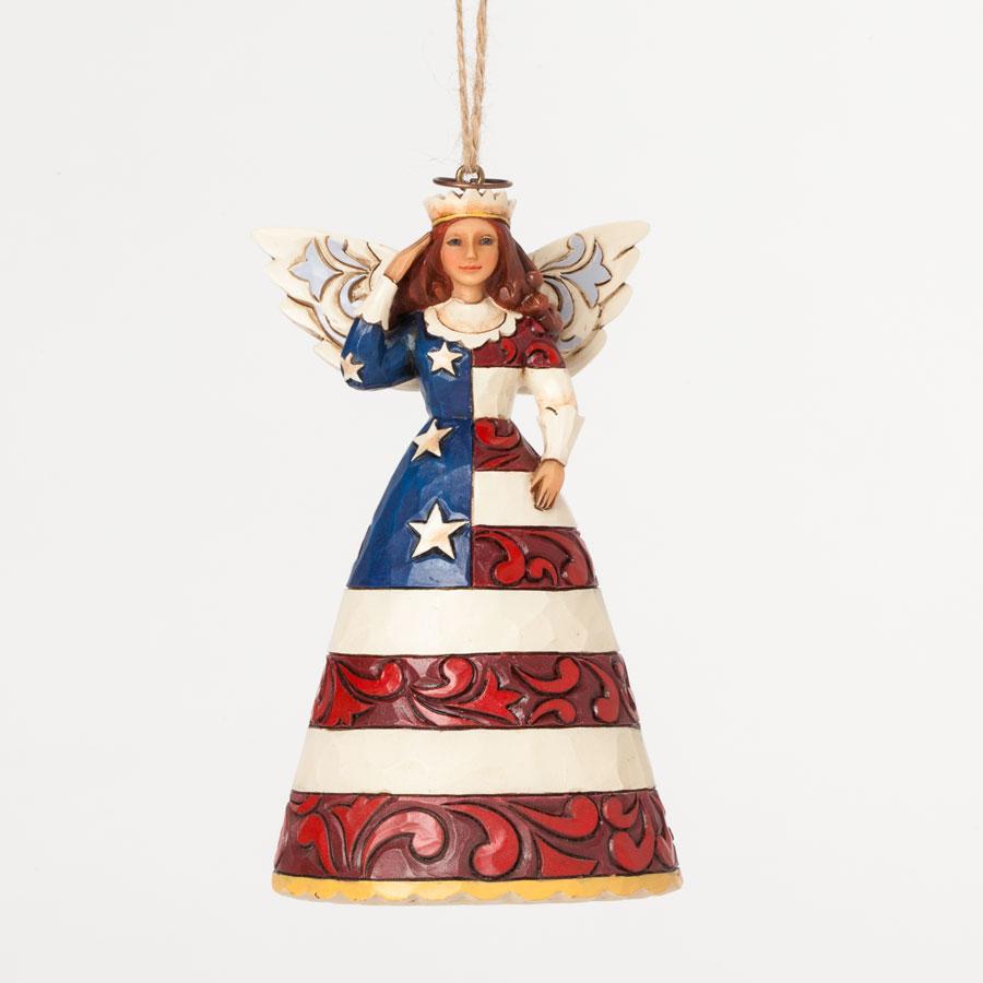 Patriotic Angel Hanging Ornament