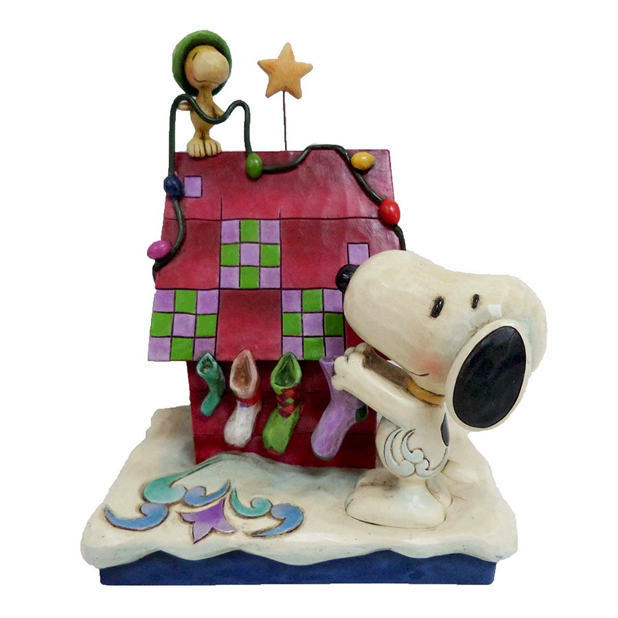 Prepping For Santa - Snoopy and Woodstock Decorating