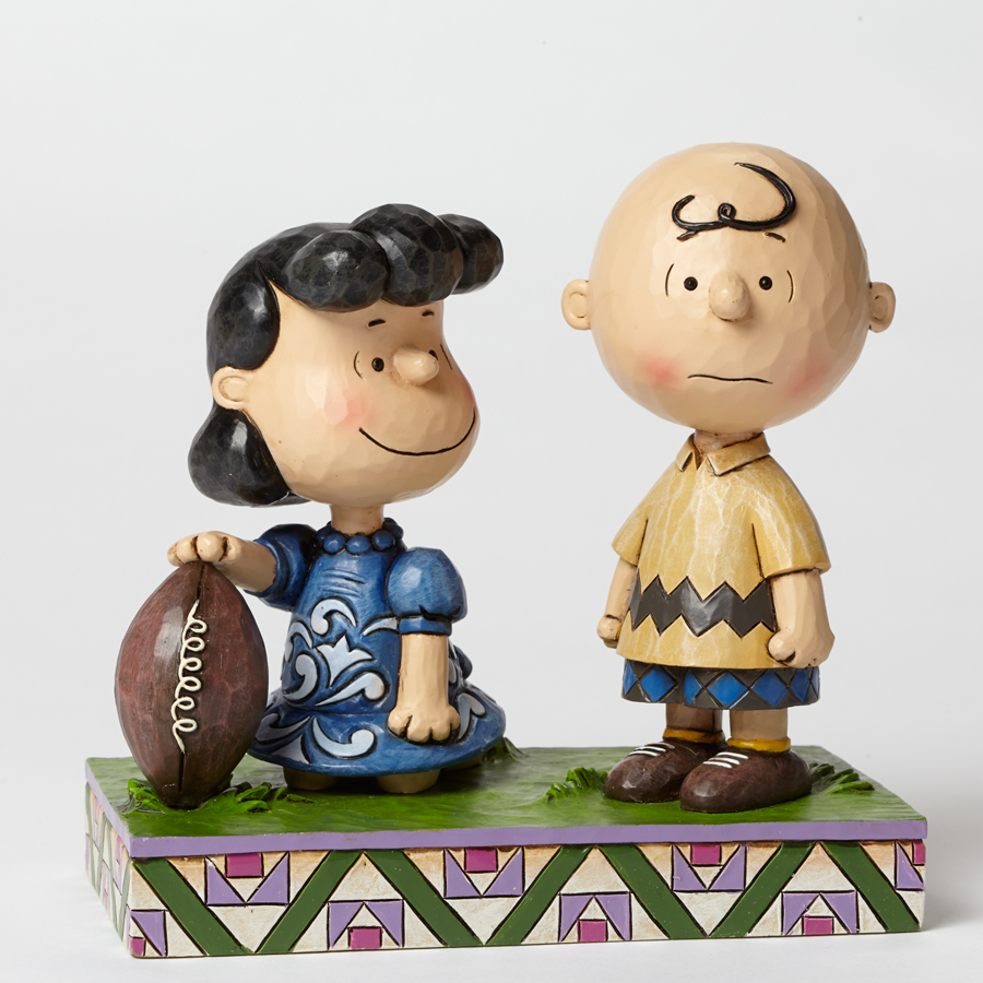 Never Give Up - Football Lucy and Charlie Brown