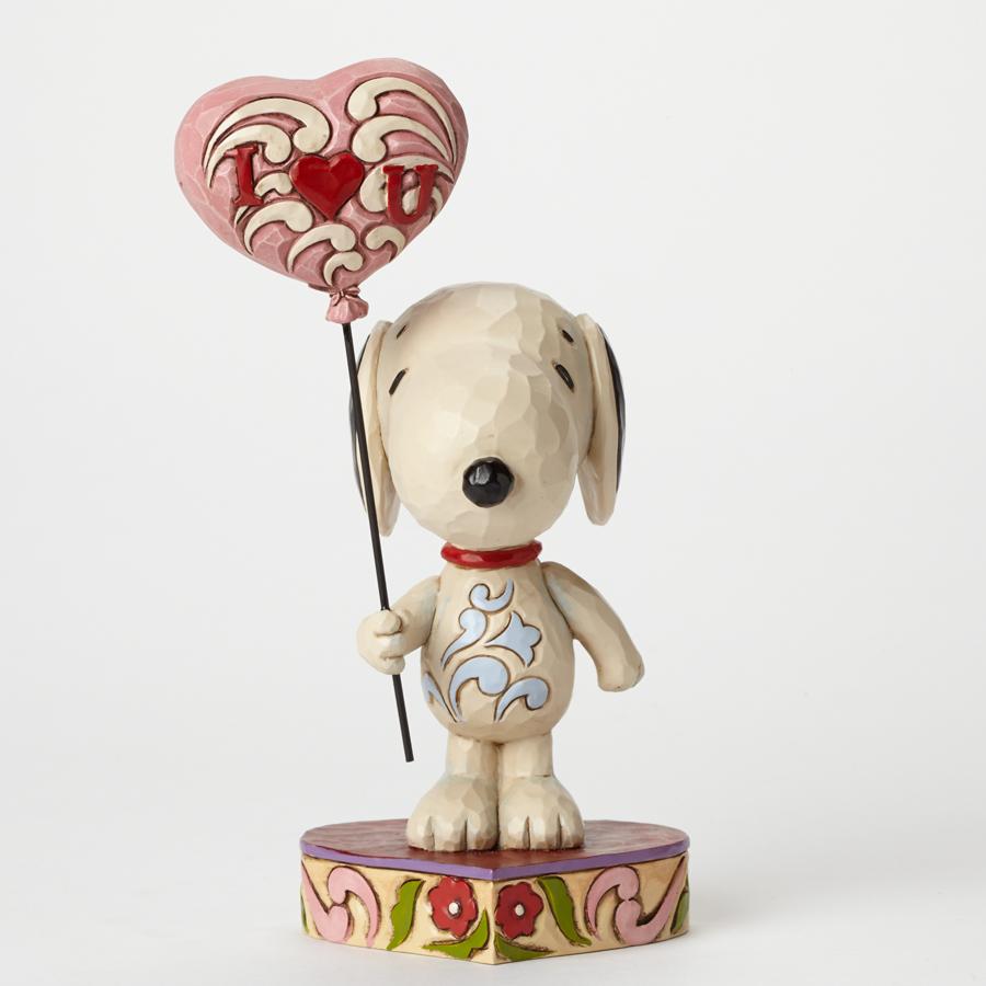 I Heart U - Love Snoopy with Heart Balloon