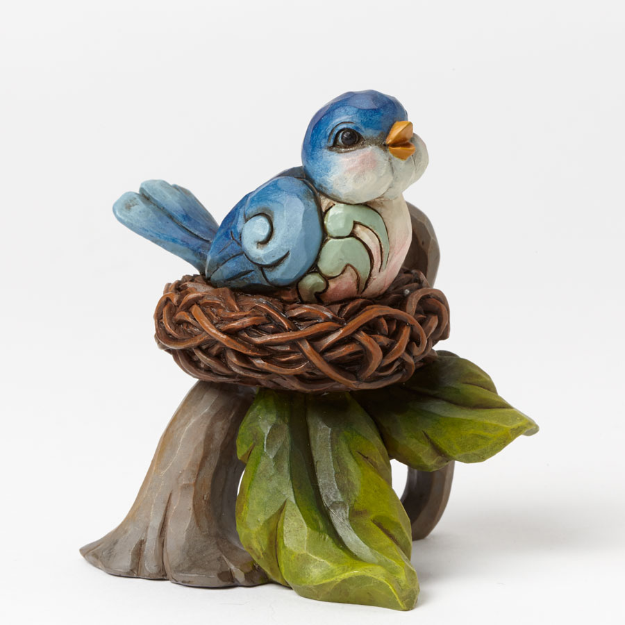 Mini Bluebird in Nest