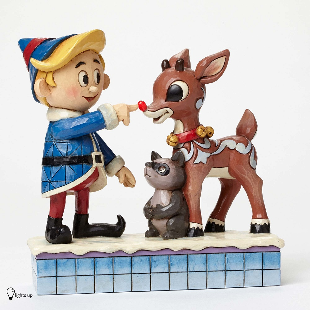 Hermey Touching Rudolph Nose