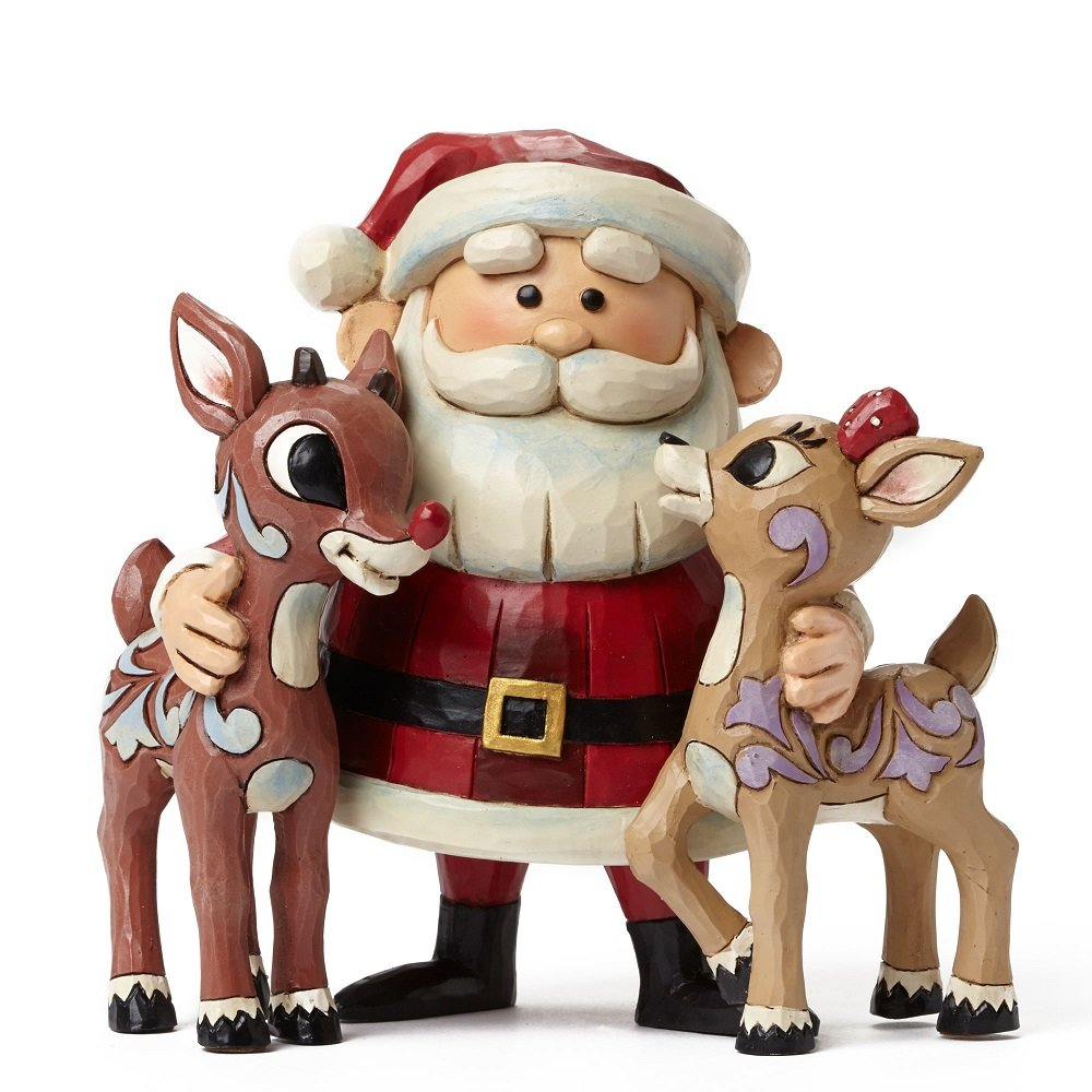 Santa Hugging Rudolph And Clarice
