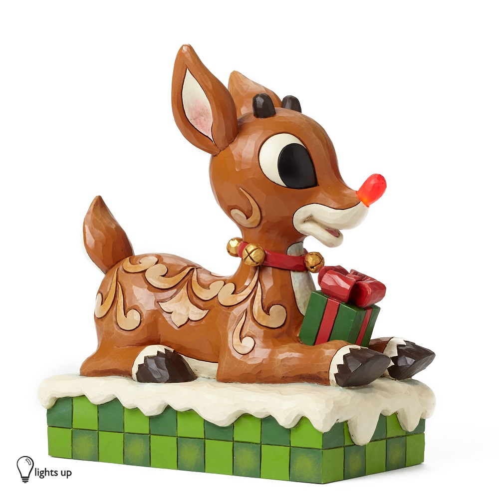 Rudolph With Lit Nose - Large Rudolph With Lited Nose