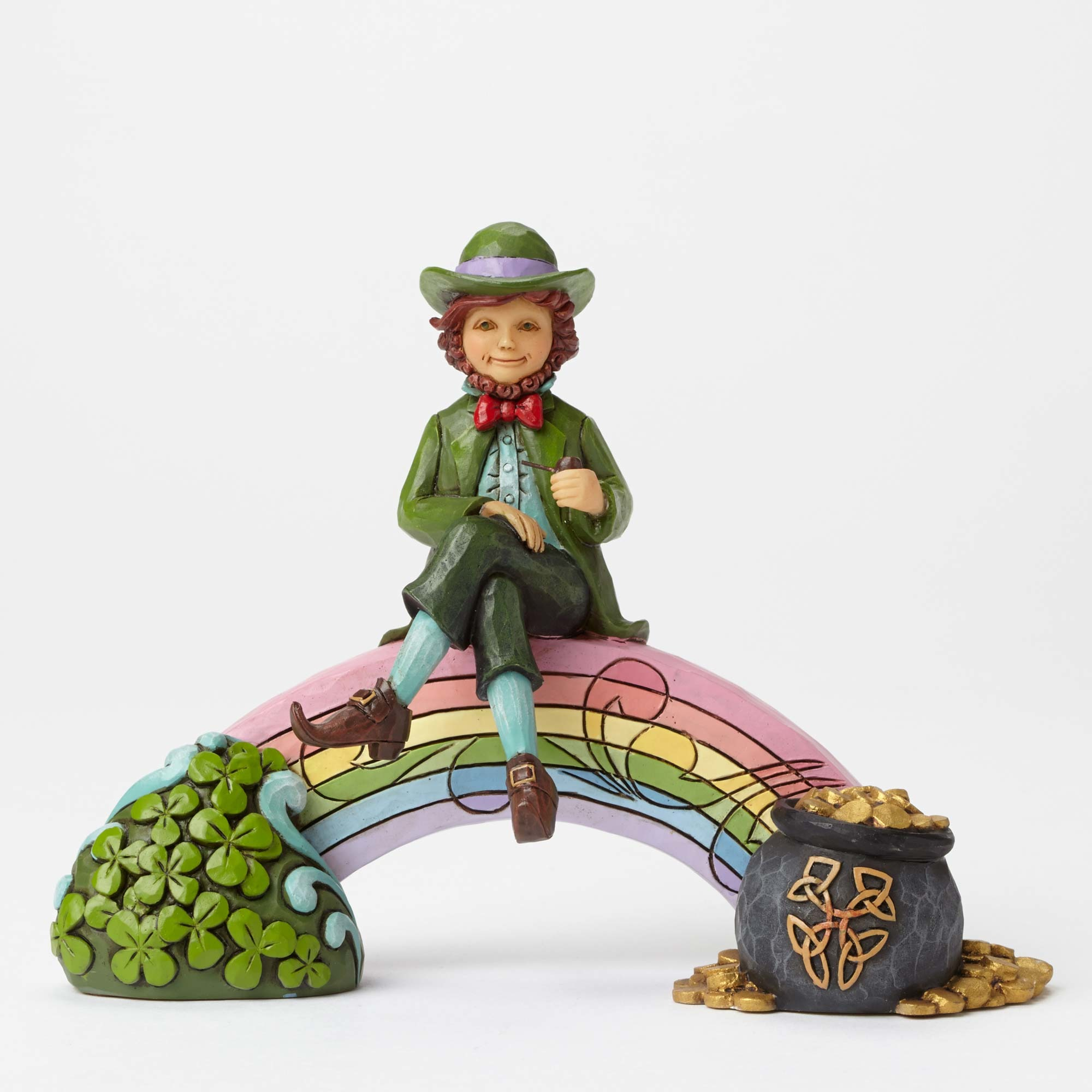 Personalized Stockings Jim Shore Heartwood Creek 4051397 Leprechaun On Rainbow