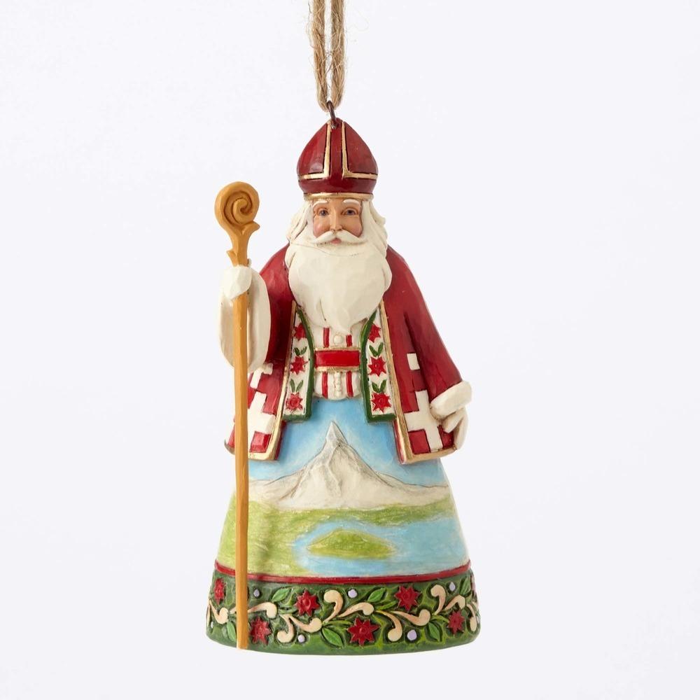Swiss Santa Ornament