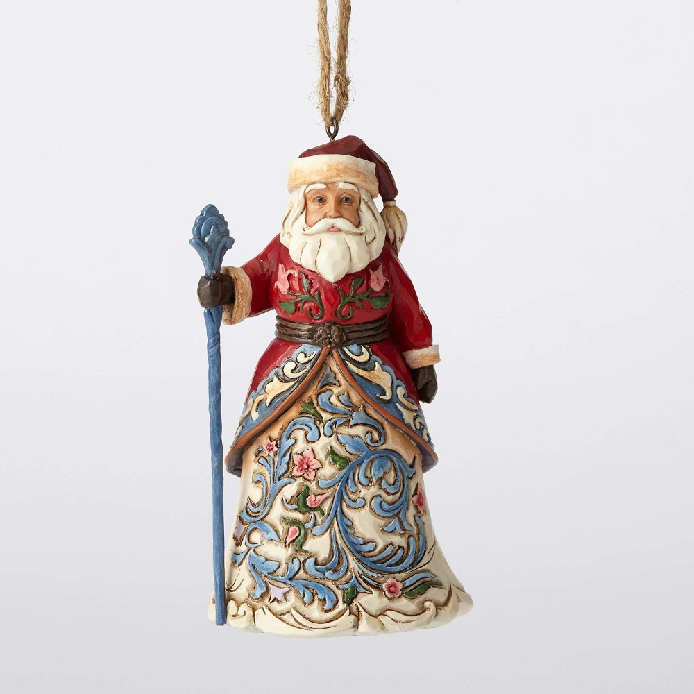 JIM SHORE HEARTWOOD CREEK 4053839 Norwegian Santa Ornament