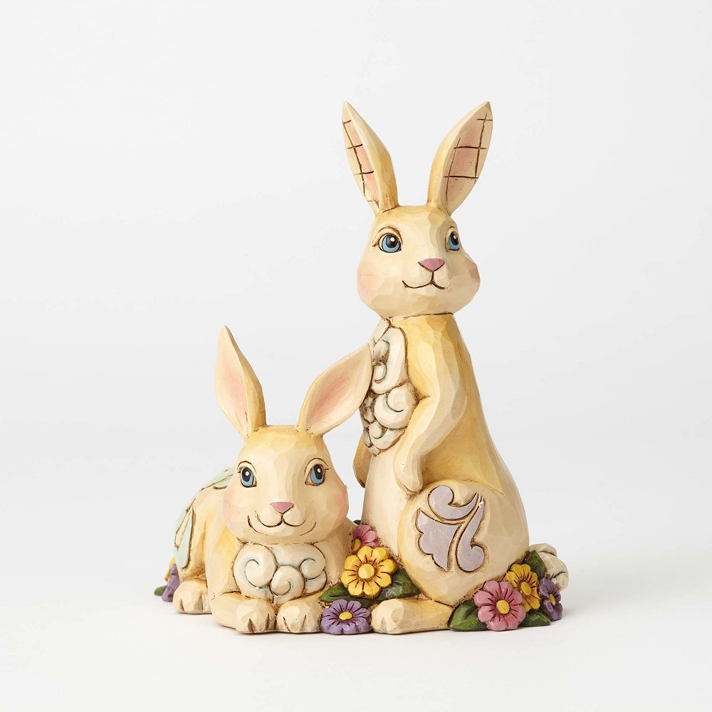 Honey Bunnies -  Two Bunnies with Flowers