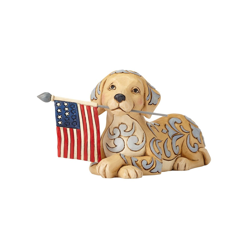 Jim Shore Heartwood Creek 4056950 Wag The Flag Dog