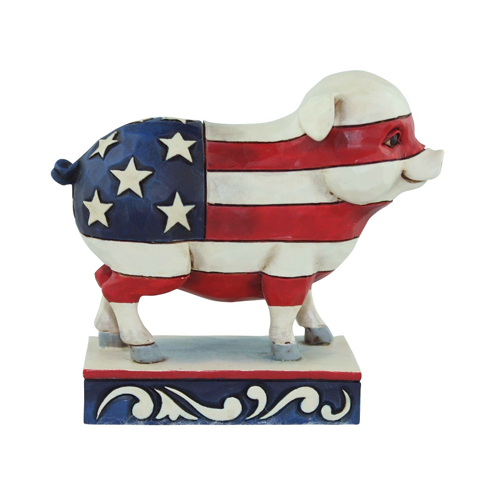 Mini Patriotic Pig