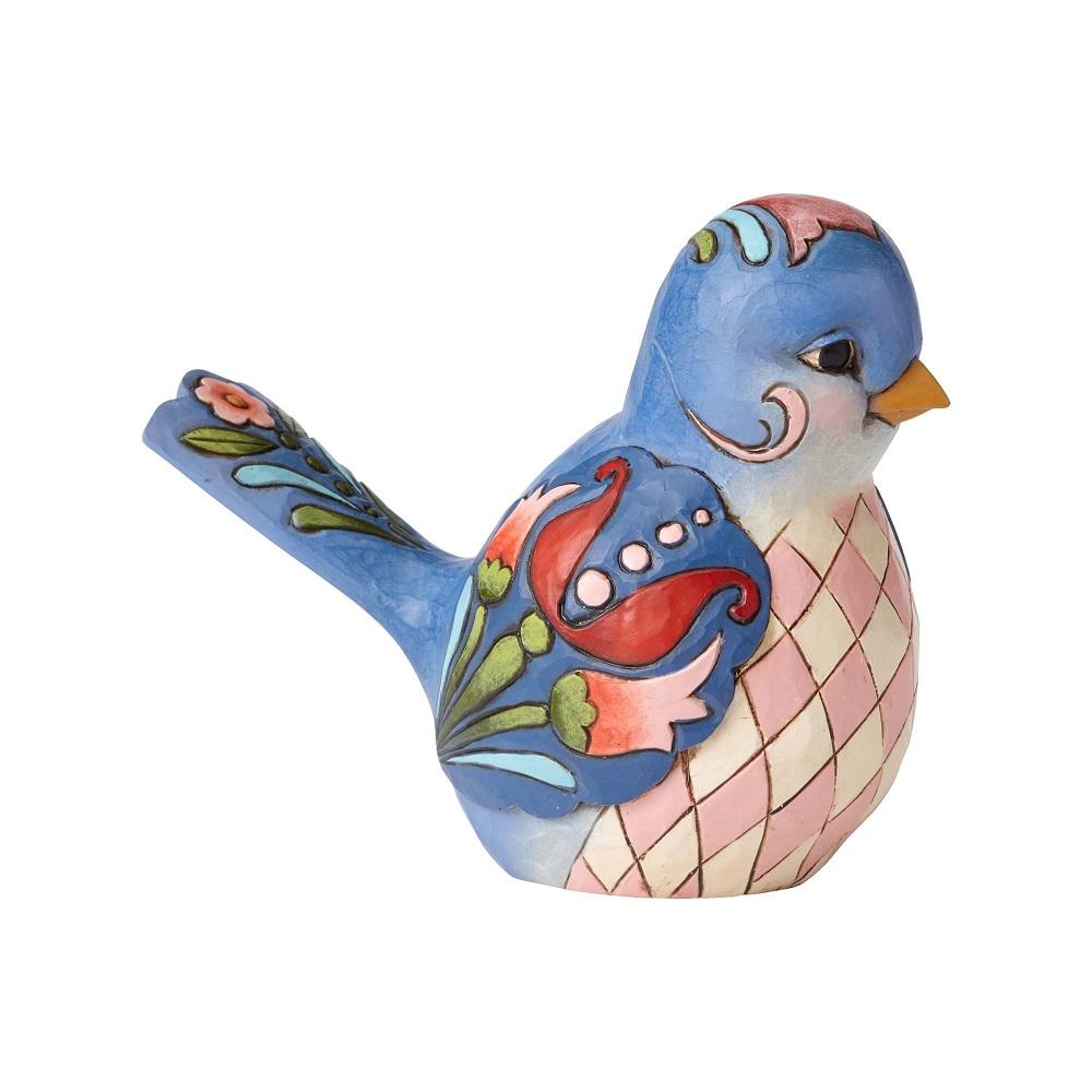 Bluebird Of Happiness - Blue Floral Bird