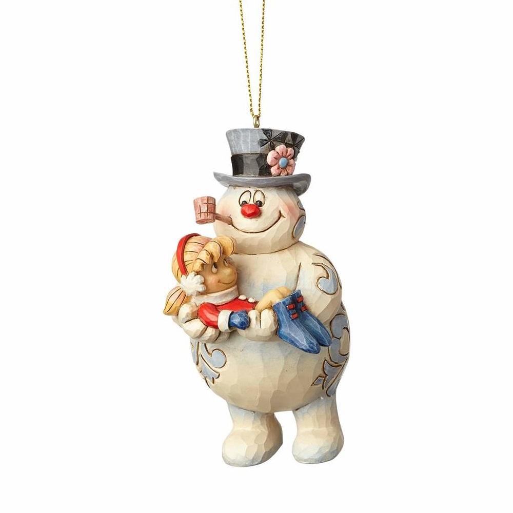 Frosty Holding Karen Ornament