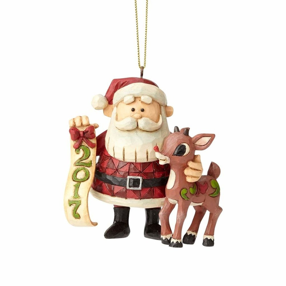 2017 Santa With Rudolph Ornament