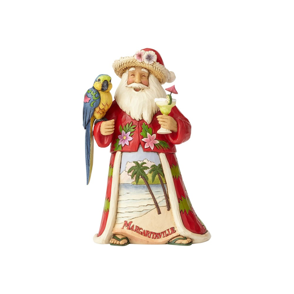 Merry In Margaritaville - Margaritaville Santa With Parrot