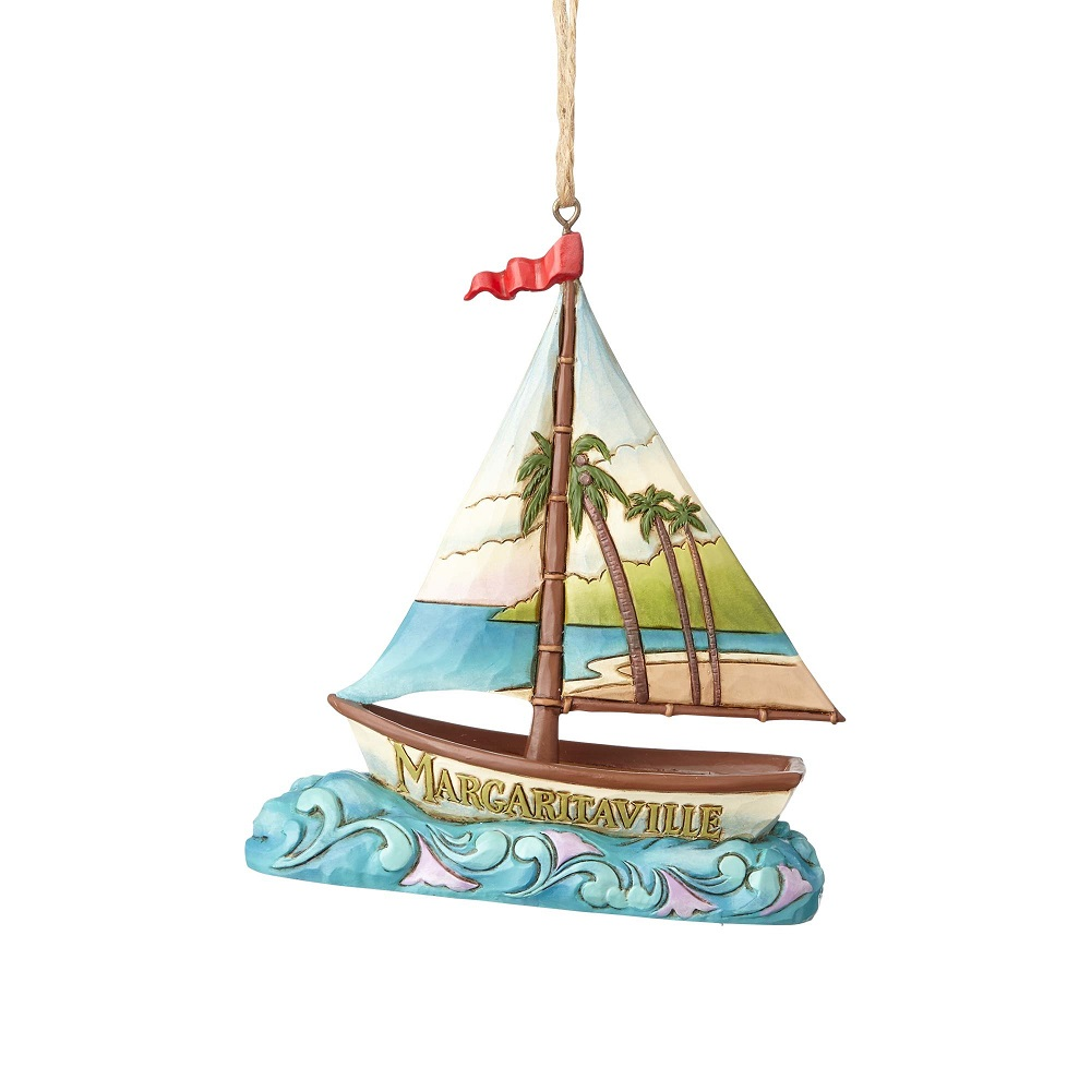 Margaritaville Sailboat Ornament