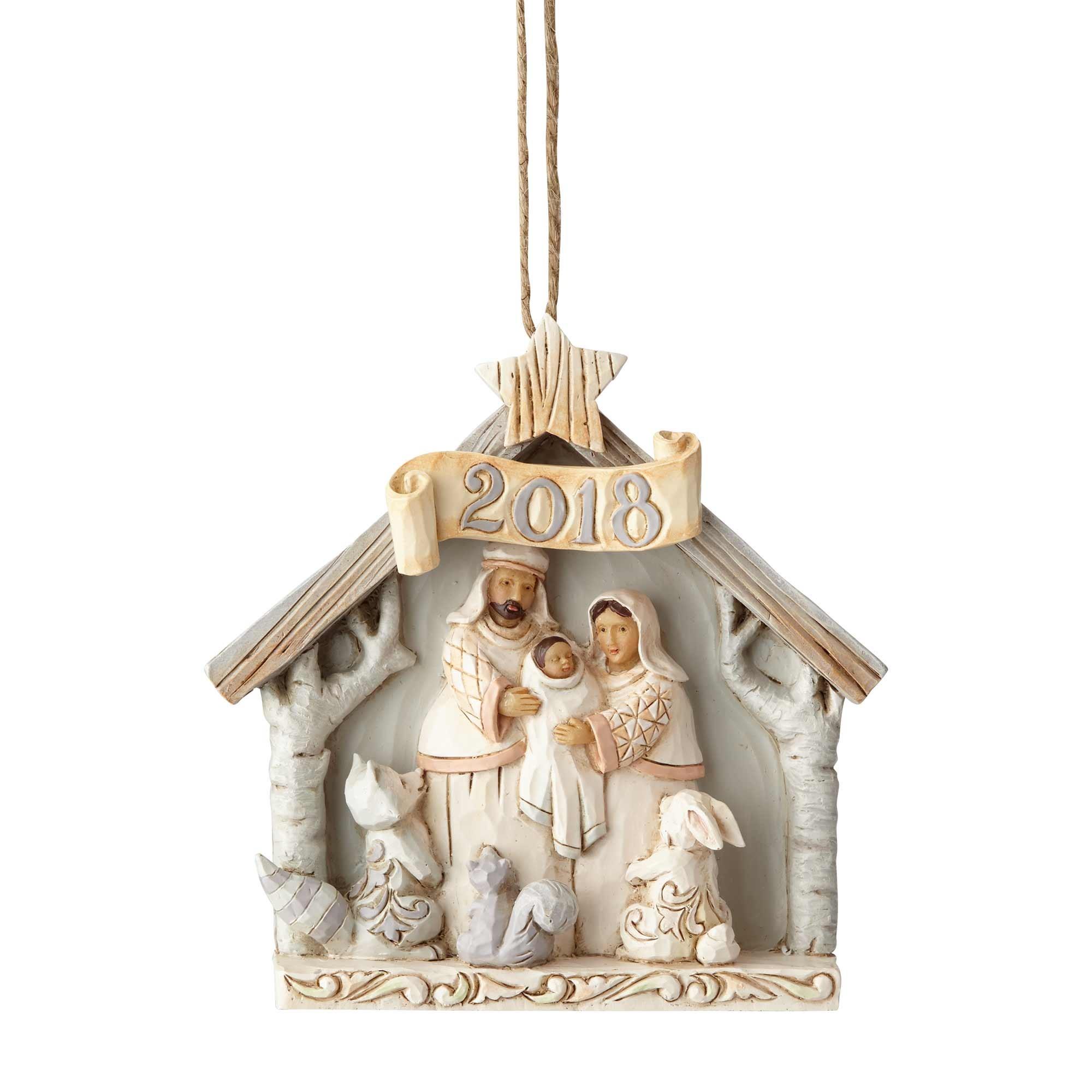 Jim Shore Heartwood Creek 6001417 White Woodland 2018 Nativity Ornament