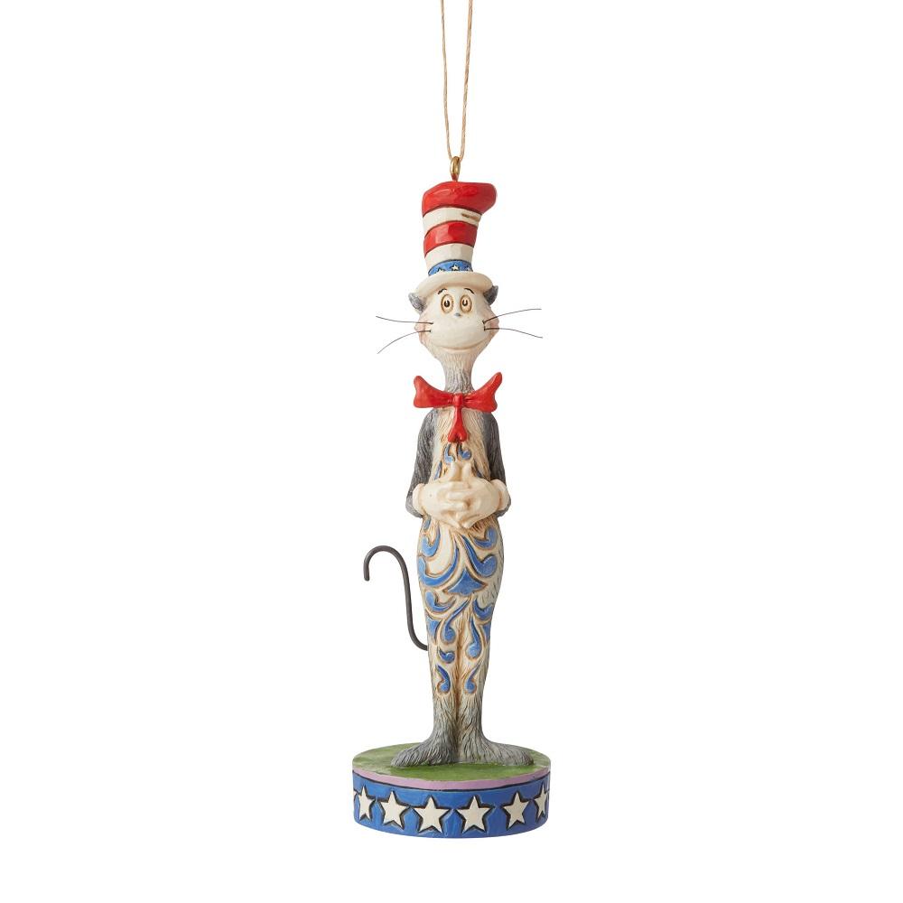 Patriotic Cat & The Hat Ornament