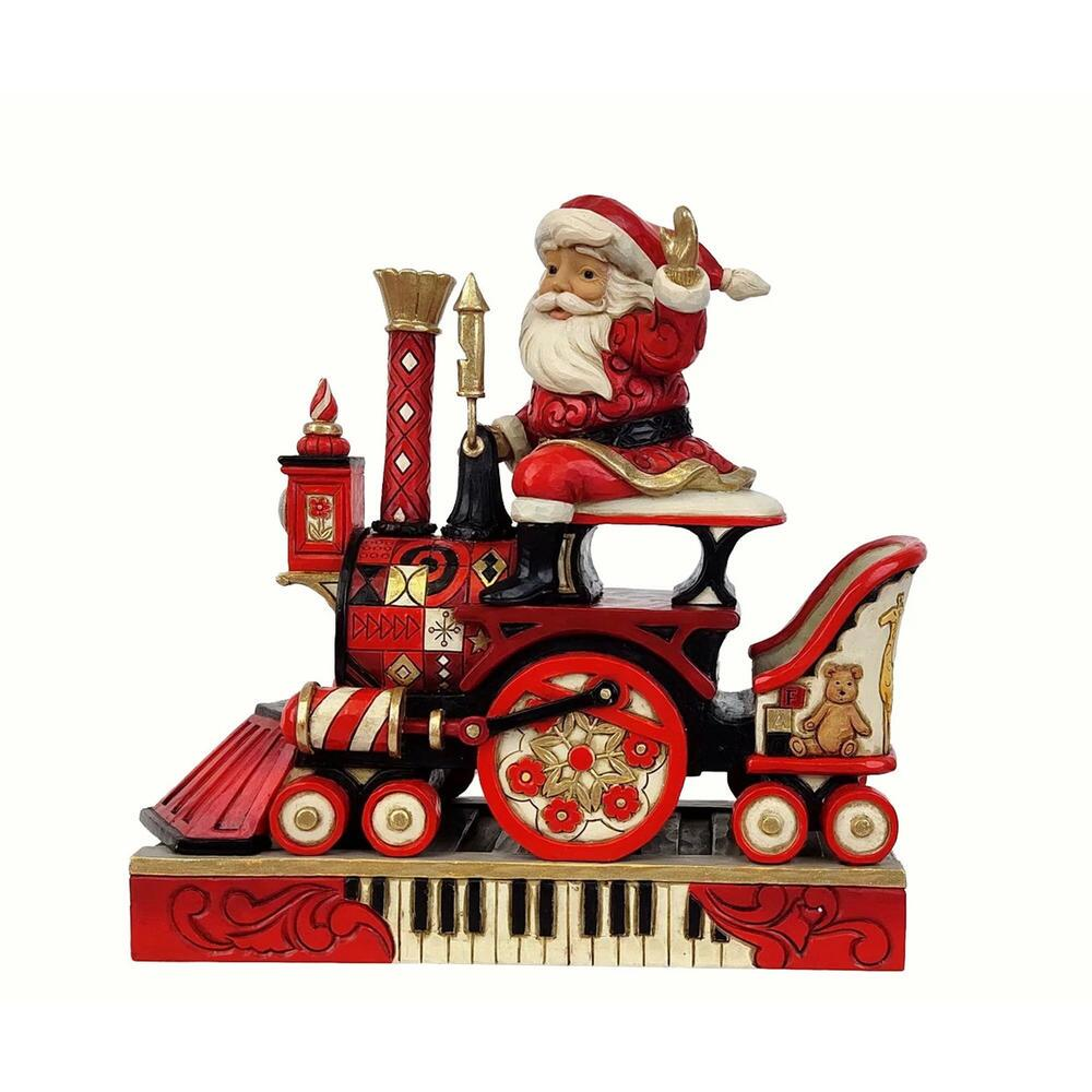 Santa Riding FAO Schwarz Train