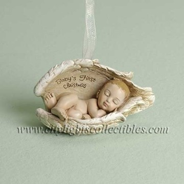 Sleeping Baby In Wings Ornament
