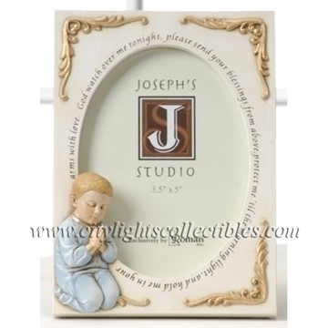 Child's Prayer Photo Frame   Boy - Fits Photos 3.5 x 5''