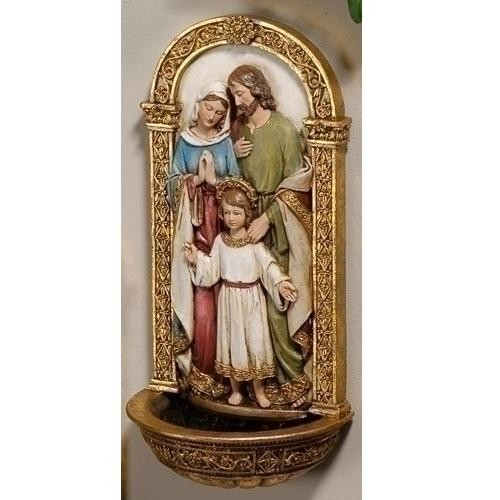 Holy Family Water Fountain, 7.75''