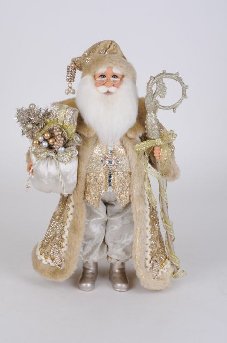 Lighted Touch of Gold Santa