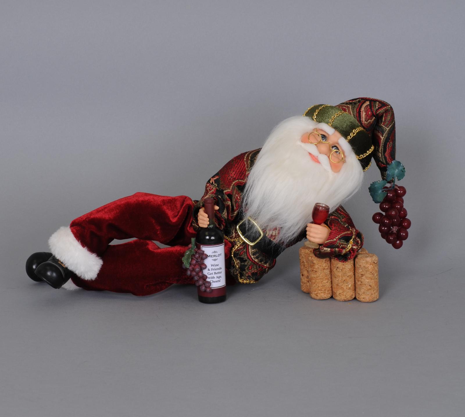 Wine Time Santa