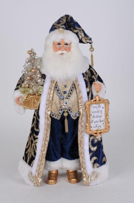 Lighted Midnight Blue Santa