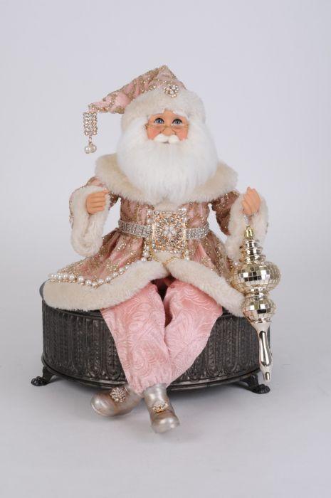 Sparkling Blush Posable Santa