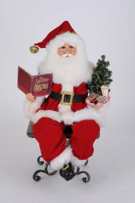 Lighted Story Time Sitting Santa