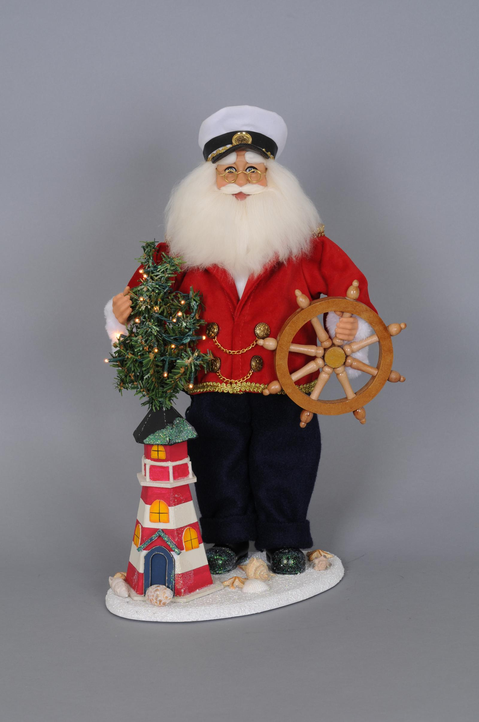 Karen didion originals sc le lighted lighthouse captain santa