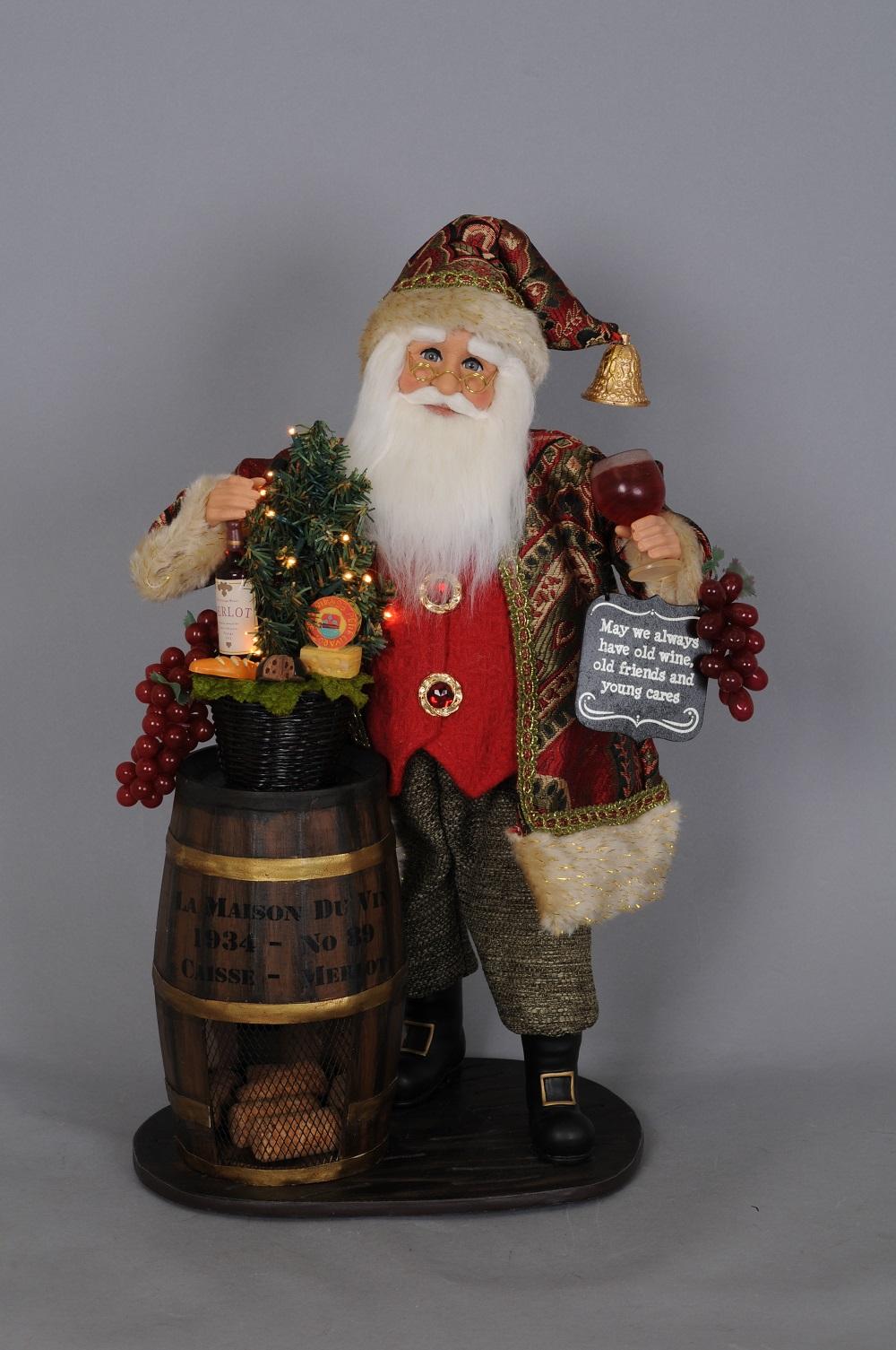 Wine Barrel Santa