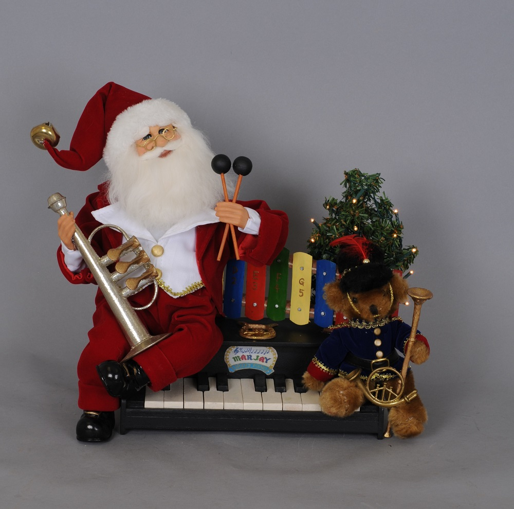 Lighted Music Santa