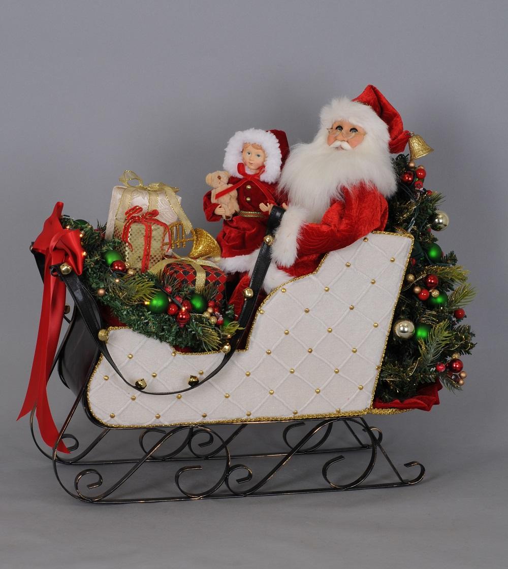 White Sled Santa