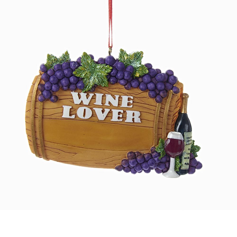 Wine Lover Barrel Ornament