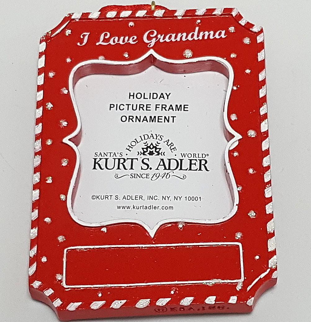 I Love Grandma Frame Ornament